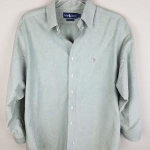 Ralph Lauren Denim Light Green Horse Logo Shirt